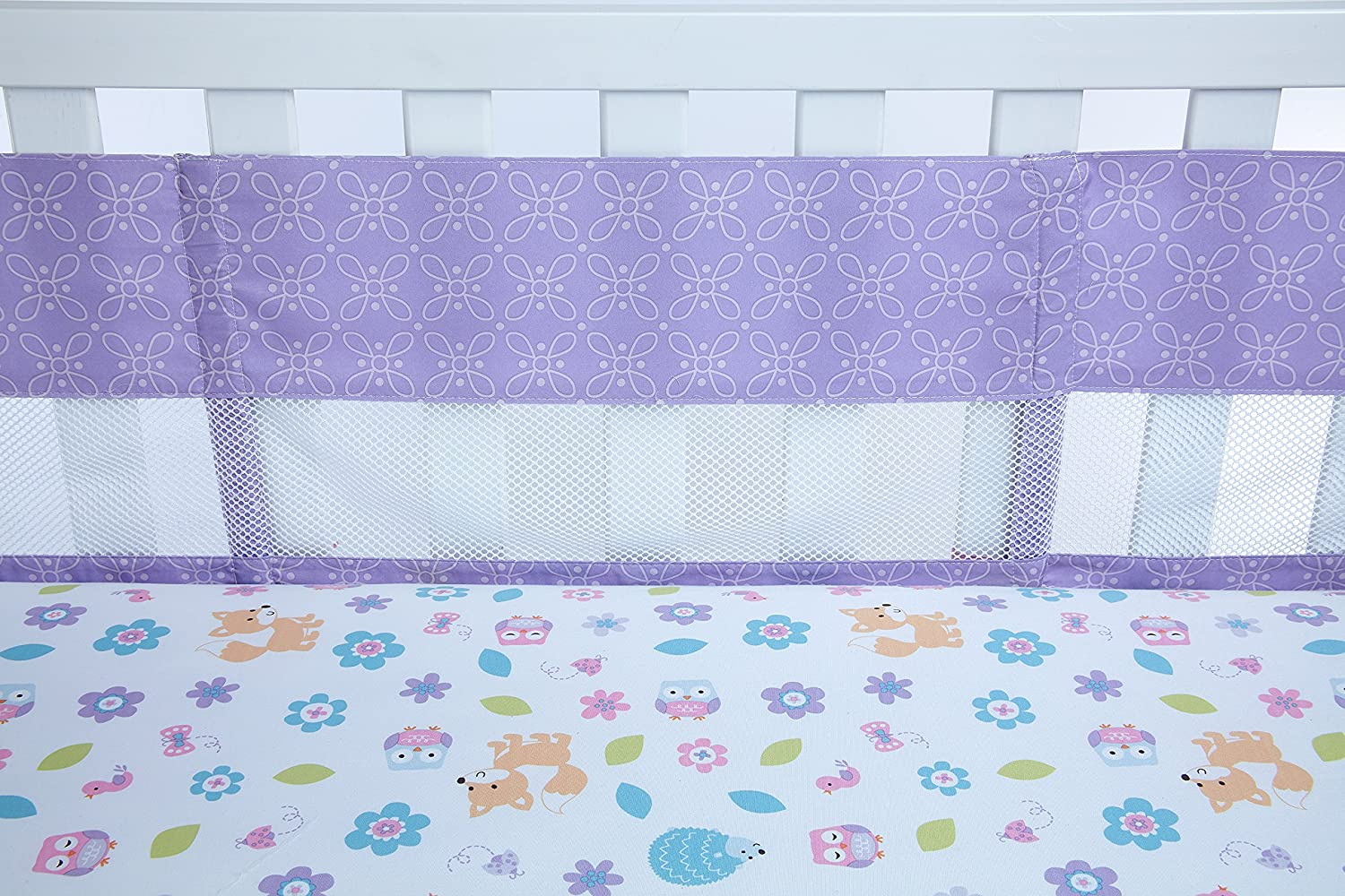 Little Love by NoJo Adorable Orchard Crib Liner, Multi-Colored Crown Craft Infant Products 4501780