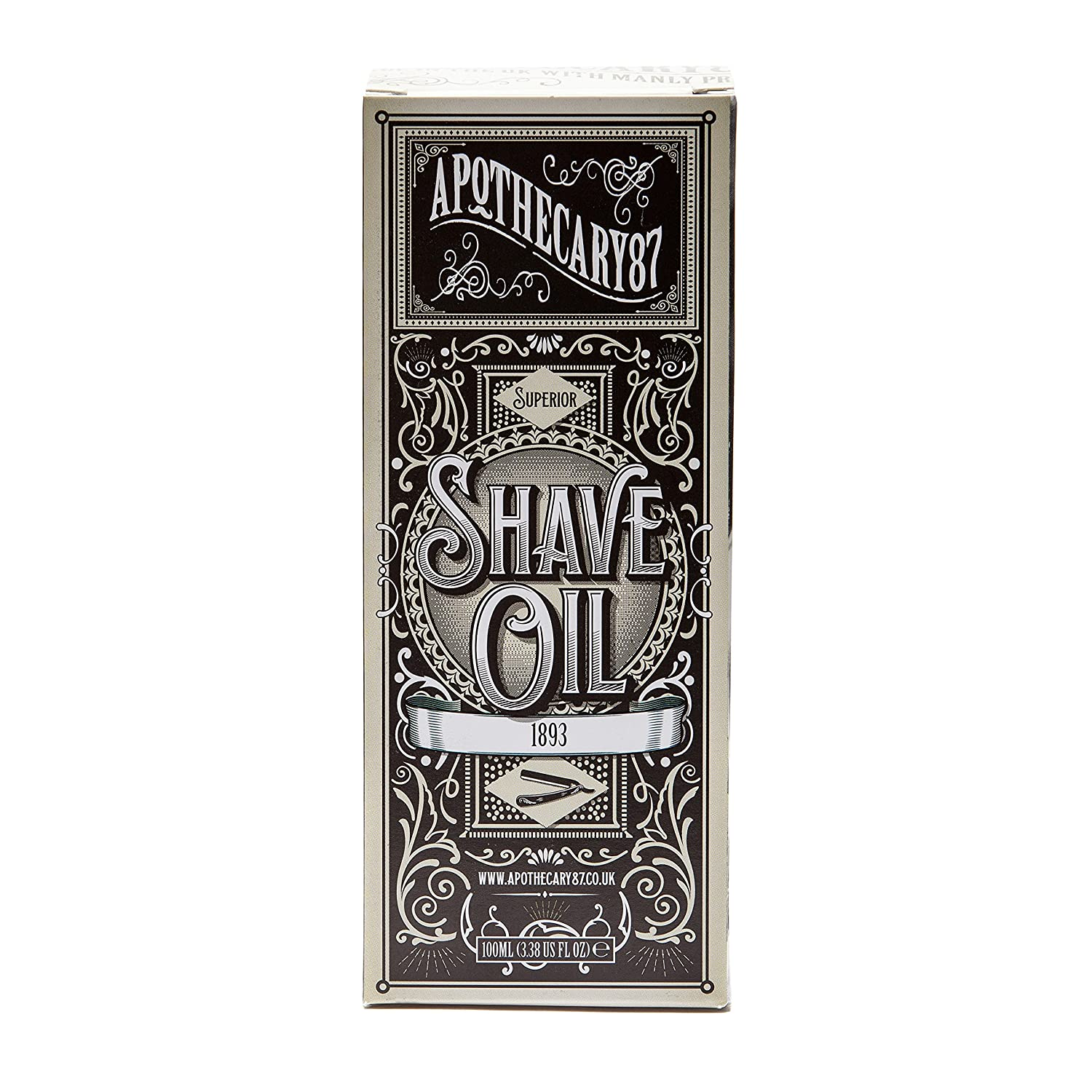 Apothecary 87, 1893 Hydrating and Healing Shaving Oil - Sandalwood and Vanilla, 86g (3 Oz) by Apothecary 87 A87-008