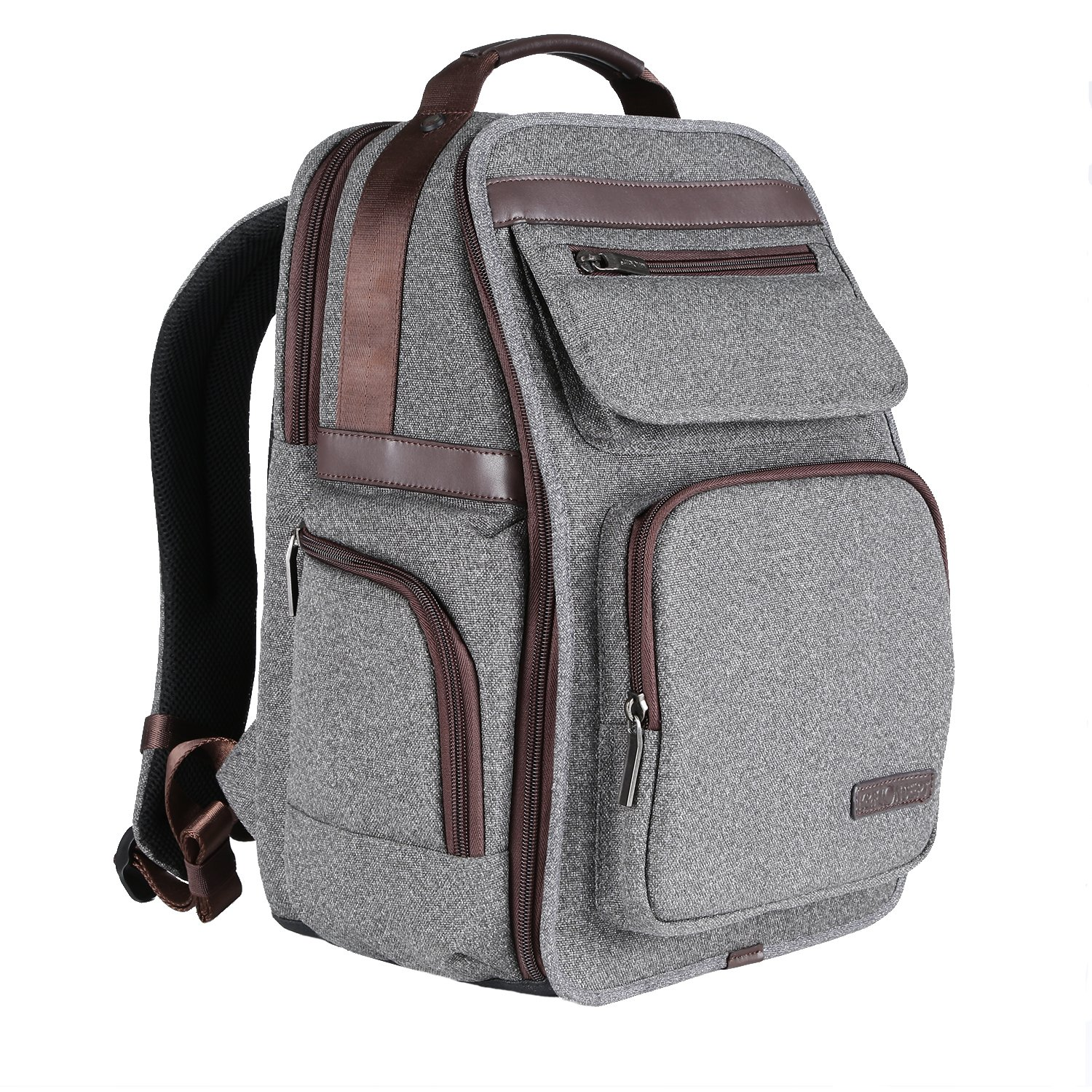 K/&F Concept Waterproof Multi-function DSLR Camera Backpack Nylon Grey Large Size with 14 Gadget Laptop for Canon Nikon Sony