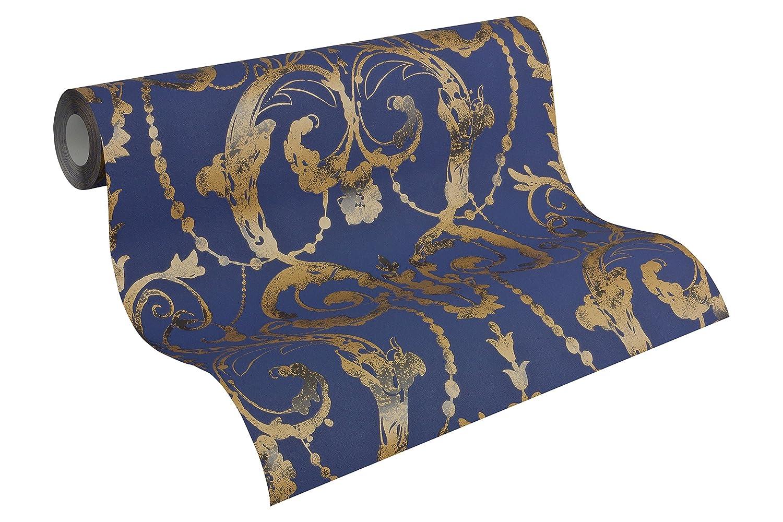 A.S. Creation Vlies Tapete Kollektion Flock 4, blau, 956914 ...