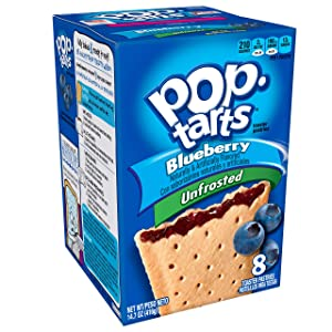 Pop-Tarts Breakfast Toaster Pastries, Unfrosted Blueberry Flavored, 14.7 oz (8 Count)