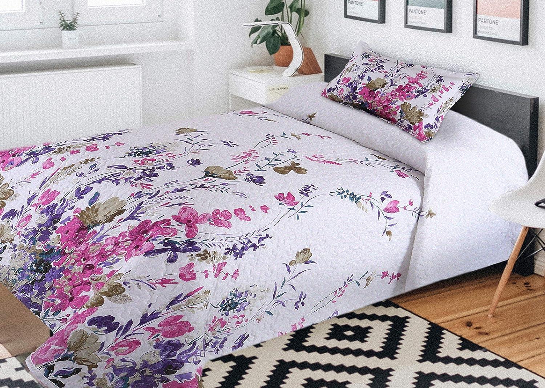 90 Comercial Candela Colcha Primavera y Verano Mandala Flores Lavanda para Cama de