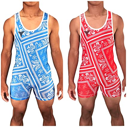 211eeb3e6f8f31 TRI-TITANS Humble Reversible Red and Blue Sublimated Wrestling Singlet -  Freestyle Greco Roman Folkstyle