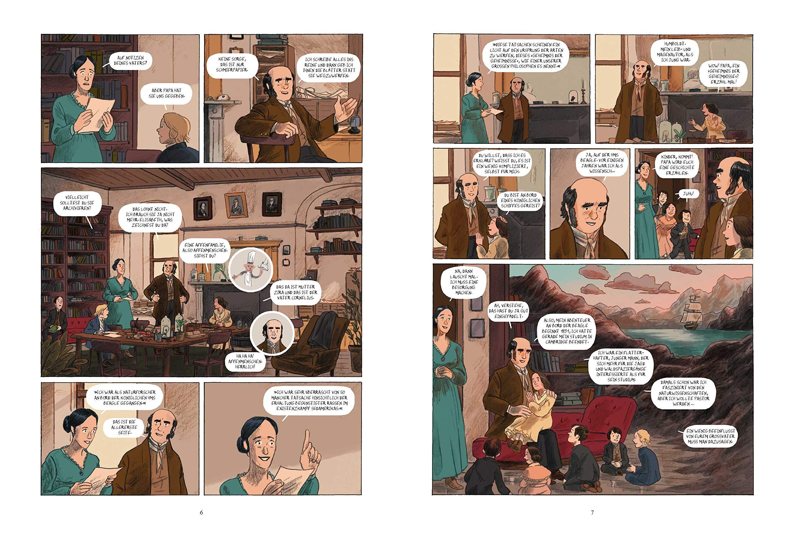 Charles Darwin Und Die Reise Auf Der Hms Beagle Die Comic