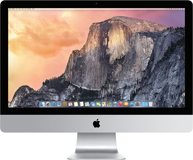 Apple iMac MF885LL/A 27-Inch 5K Retina Display (3.3 Ghz Quad-core processor, 1TB Hard Drive, 8GB DDR3L) (Renewed)