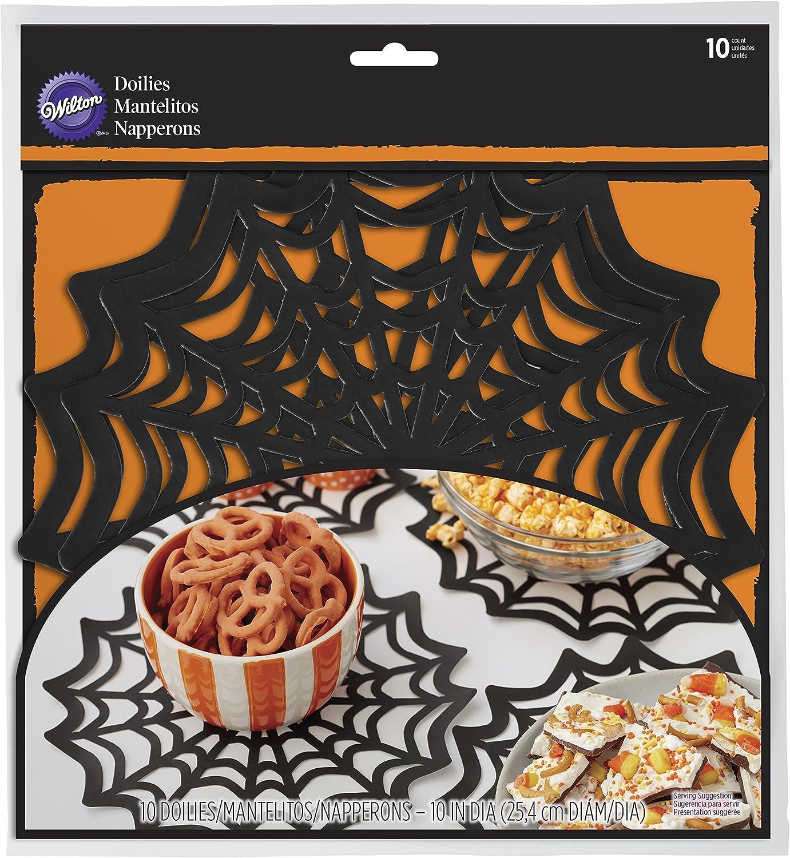"Wilton Halloween Spider Web 10/"" paper Doilies party decorations"