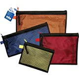 Amazon Com Vaultz Mesh Storage Bags Assorted Colors And
