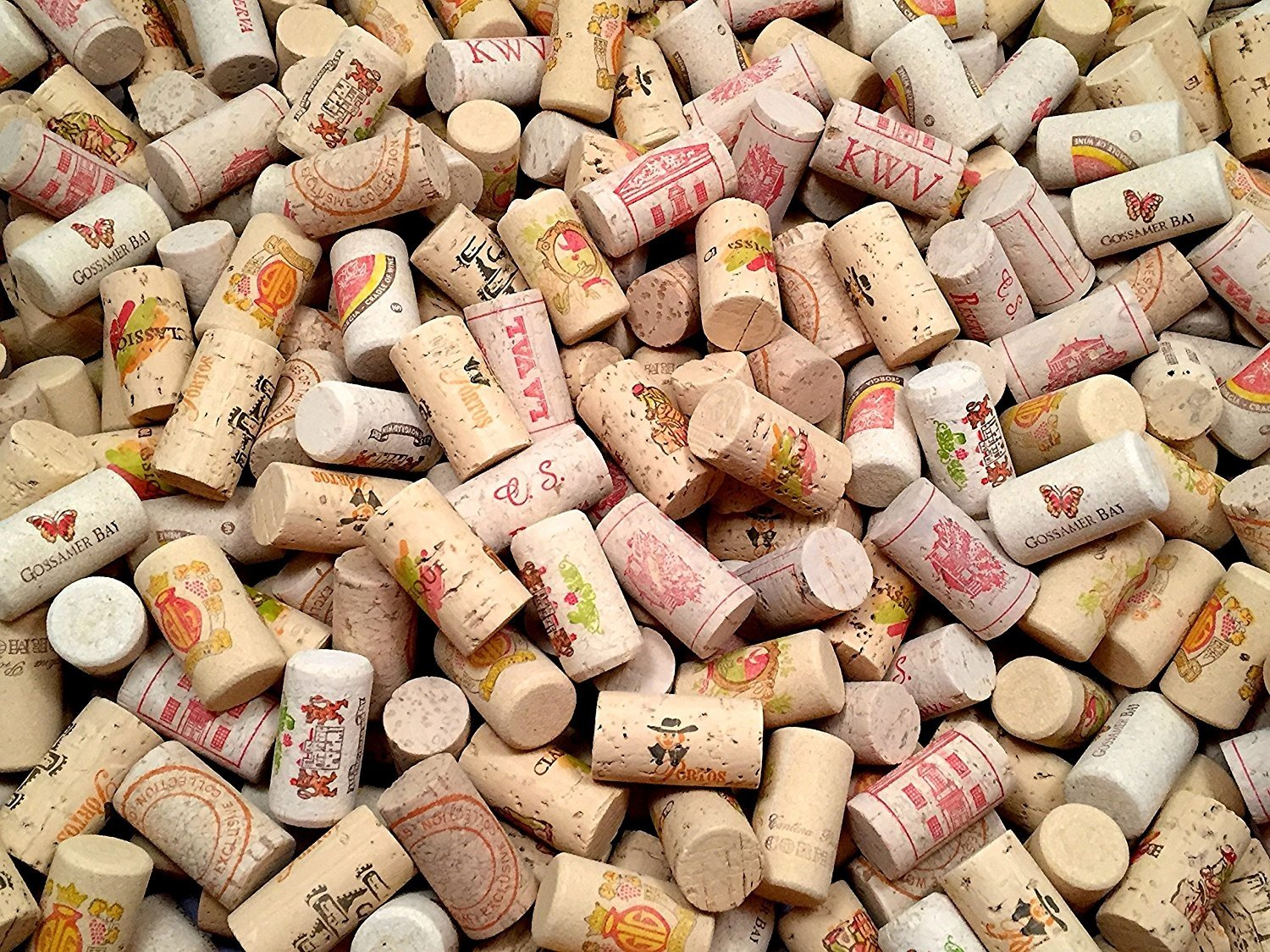 COLOR Wine Corks | Brand New, Authentic, All Natural | Printed, Winery-Marked, Craft Grade | Uncirculated, Uniform & Clean | Excellent for Crafting & Decor | Pack of 25/50/100 Premium Wine Cork (50) by Omni Trading Worldwide (Image #4)