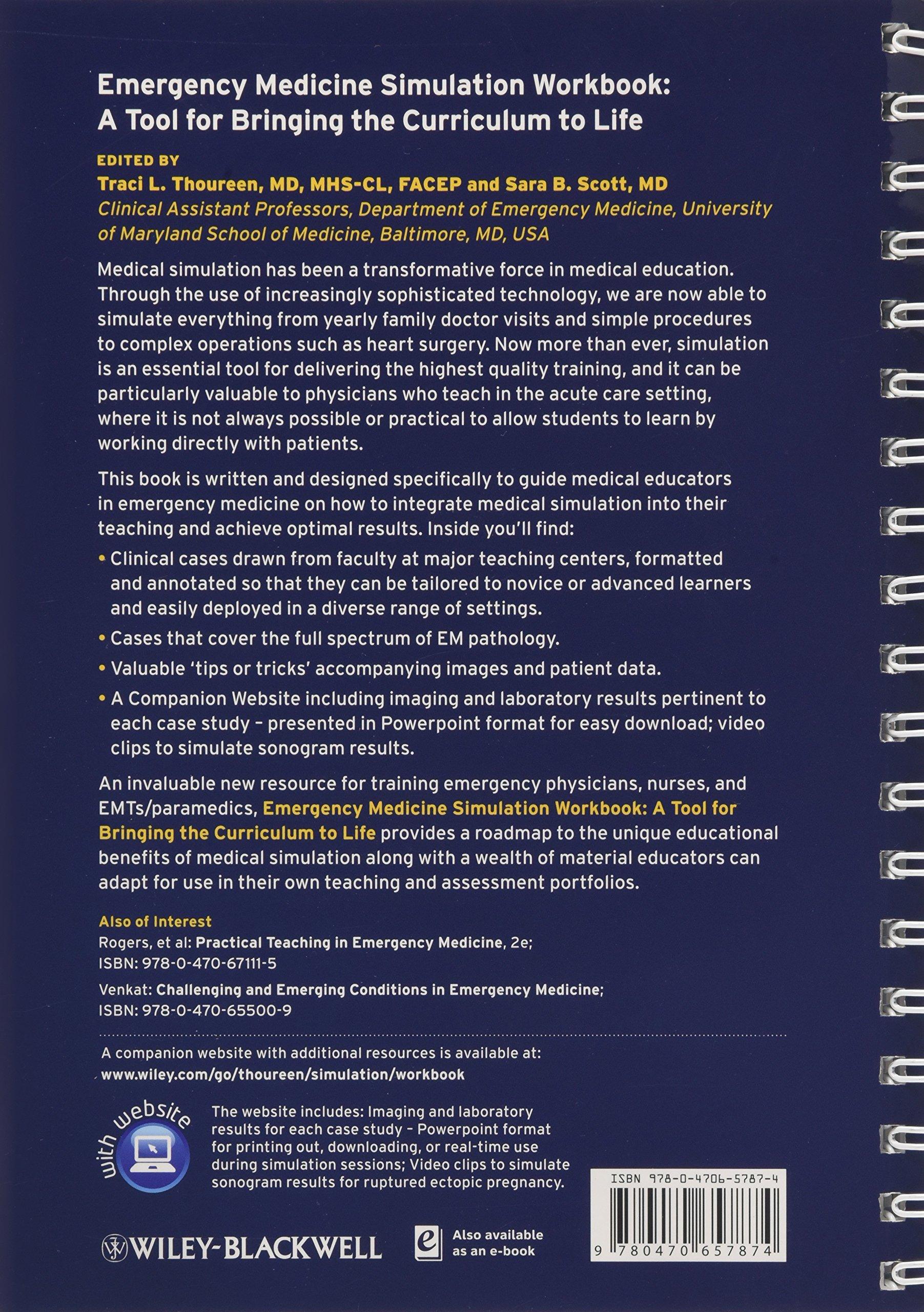 Emergency Medicine Simulation Workbook: A Tool for Bringing
