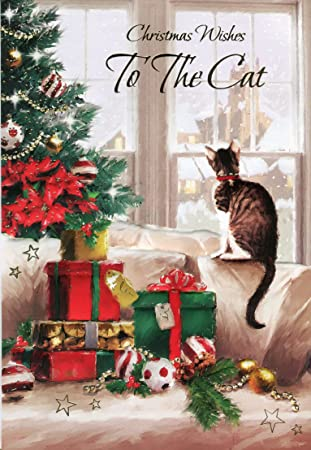 Christmas Wishes Card.Christmas Wishes To The Cat Christmas Greeting Card