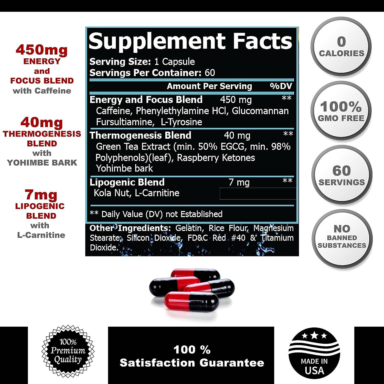 Quemador de grasa del vientre Abdominal, tratamiento suplemento para bajar de peso, pastillas para adelgazar rapido quemadores de grasa para Mujeres y ...