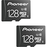 Pioneer 128GB microSD Classic with Adapter - C10, U1, Full HD Memory Card (2 Pack)