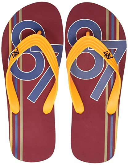 700d48a9a282 Aeropostale Men s Leon Maroon Flip Flops Thong Sandals-10 UK India (44 EU