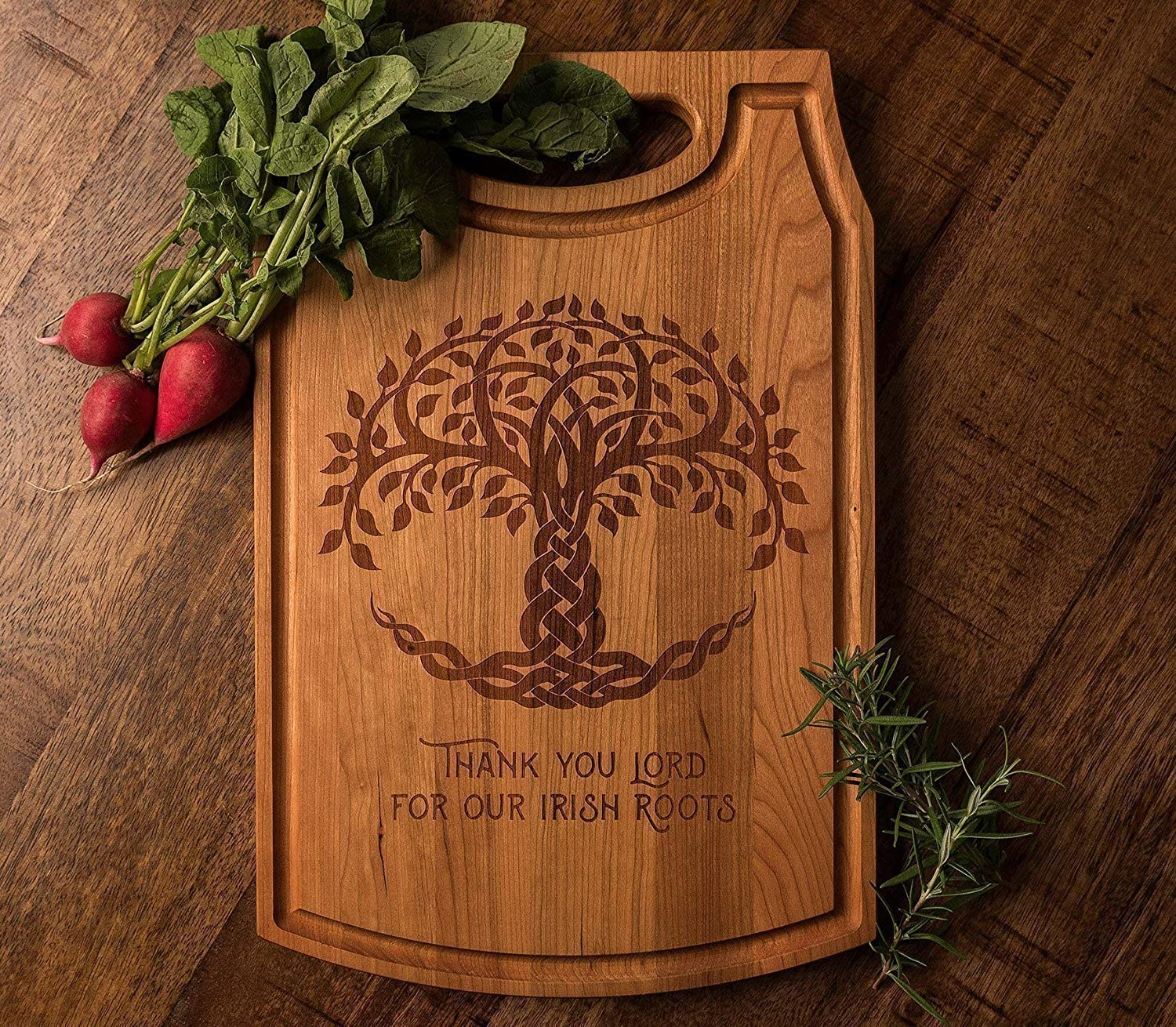 Engraved Wood Cutting Board with Celtic Tree of Life ** FREE DOMESTIC ECONOMY SHIPPING **