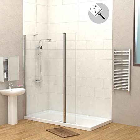 Walk In Shower With Flipper Panel.Modern Marbella 1000mm Walk In Wetroom Screen With 300mm