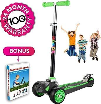 Amazon.com: Patinete para niños, Maxi Plegable Kick Scooter ...