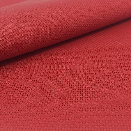 Tela para Punto de Cruz | 75cm x 50cm | 5,5 puntos/cm – 14 cuentas | 100% algodón | Elige color | de Delicatela (Rojo): Amazon.es: Hogar