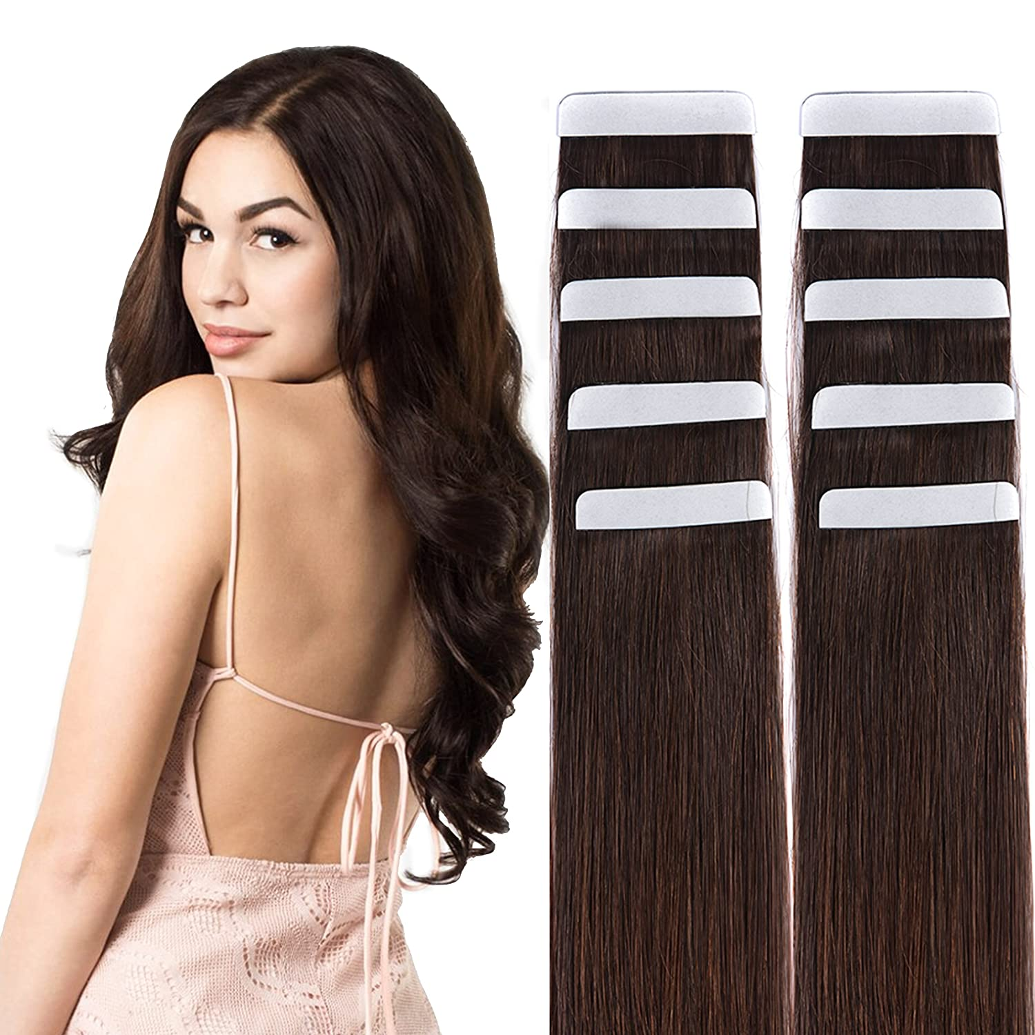 Best Hair Extensions 20 Tape In Human Hair Extensions Remy Skin