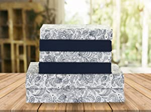 Elegant Comfort Luxury Soft Bed Sheets Paisley Pattern 1500 Thread Count Percale Egyptian Quality Softness Wrinkle and Fade Resistant (6-Piece) Bedding Set, King, Paisley Navy Blue