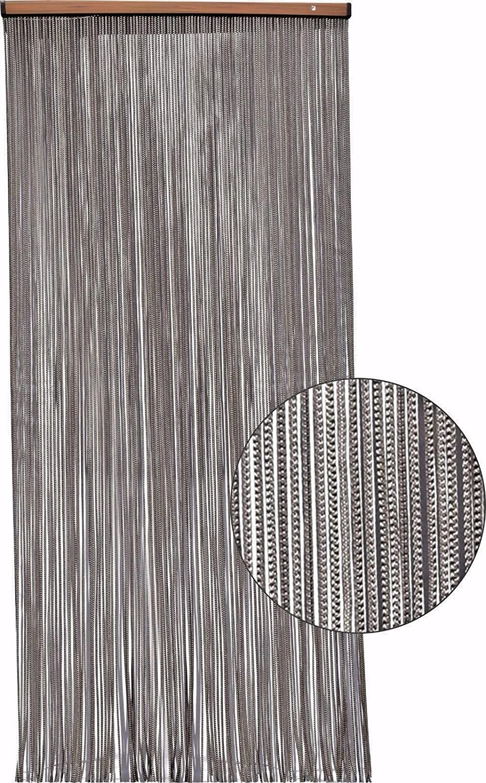 Arancio//Beige TREND Overcasa Tenda ANTIMOSCHE per Porta in Corda Modello Braid cm.130x240