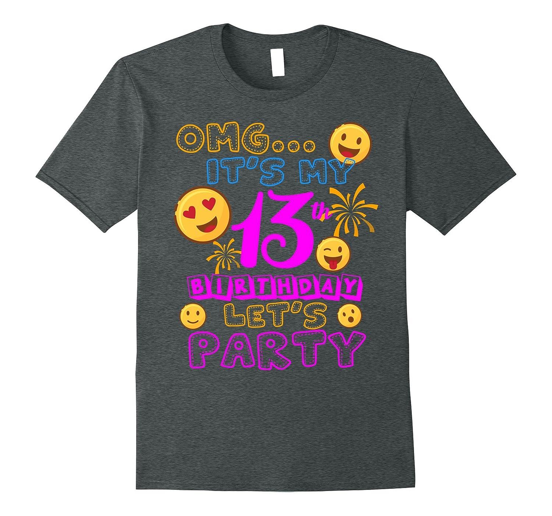 13 Year Old Awesome Kids Shirts Kids 13th Birthday Emoji
