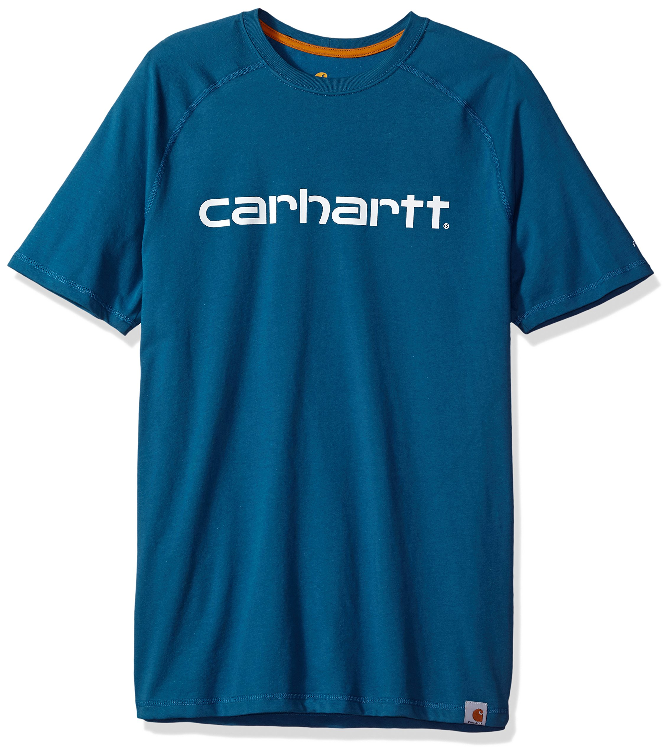 Carhartt Men's Force Cotton Delmont Graphic Short Sleeve T-Shirt, Bay Harbor, X-Large