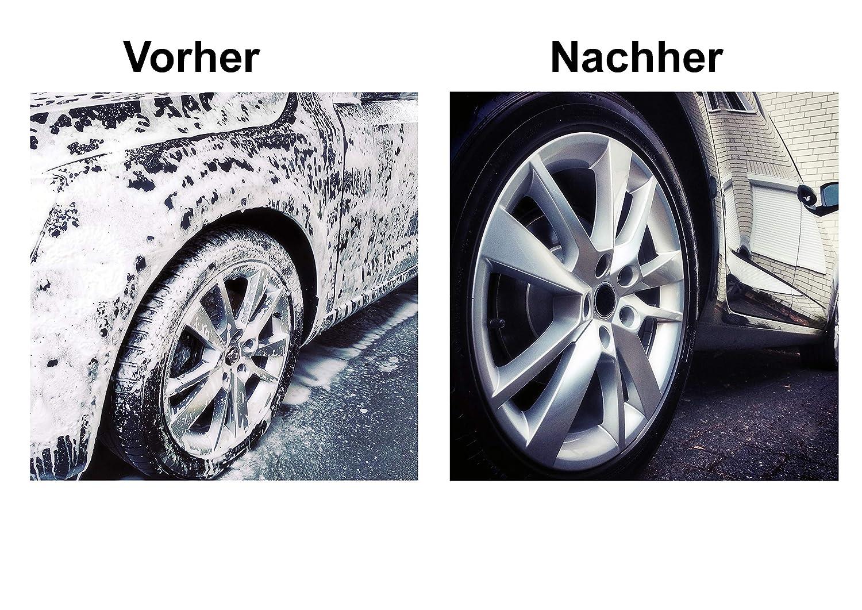 Glart 44WH Guante de microfibra para lavar el coche con jabón, aprox. 27x17cm: Amazon.es: Coche y moto