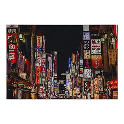 Kabukicho, Shinjuku, Tokyo, Japan - neon Street at Night Showing Vibrant Nightlife 9026358 (Premium 1000 Piece Jigsaw Puzzle for Adults, 20x30, Made in USA!): Toys & Games