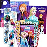 Disney Frozen Coloring Book with Stickers Bundle Includes 2 Disney Frozen Coloring Books and Stickers with 2-Sided…