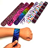 Dazzling Toys Hearts/animal Print Slap Bracelets – Pack of 50- Mega Pack!