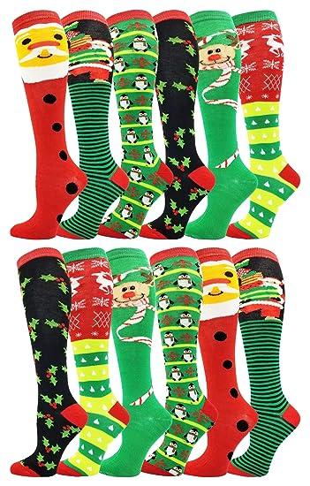 Ladies Novelty Christmas Themed Slipper Socks Womens Indoors Festive Xmas Gift