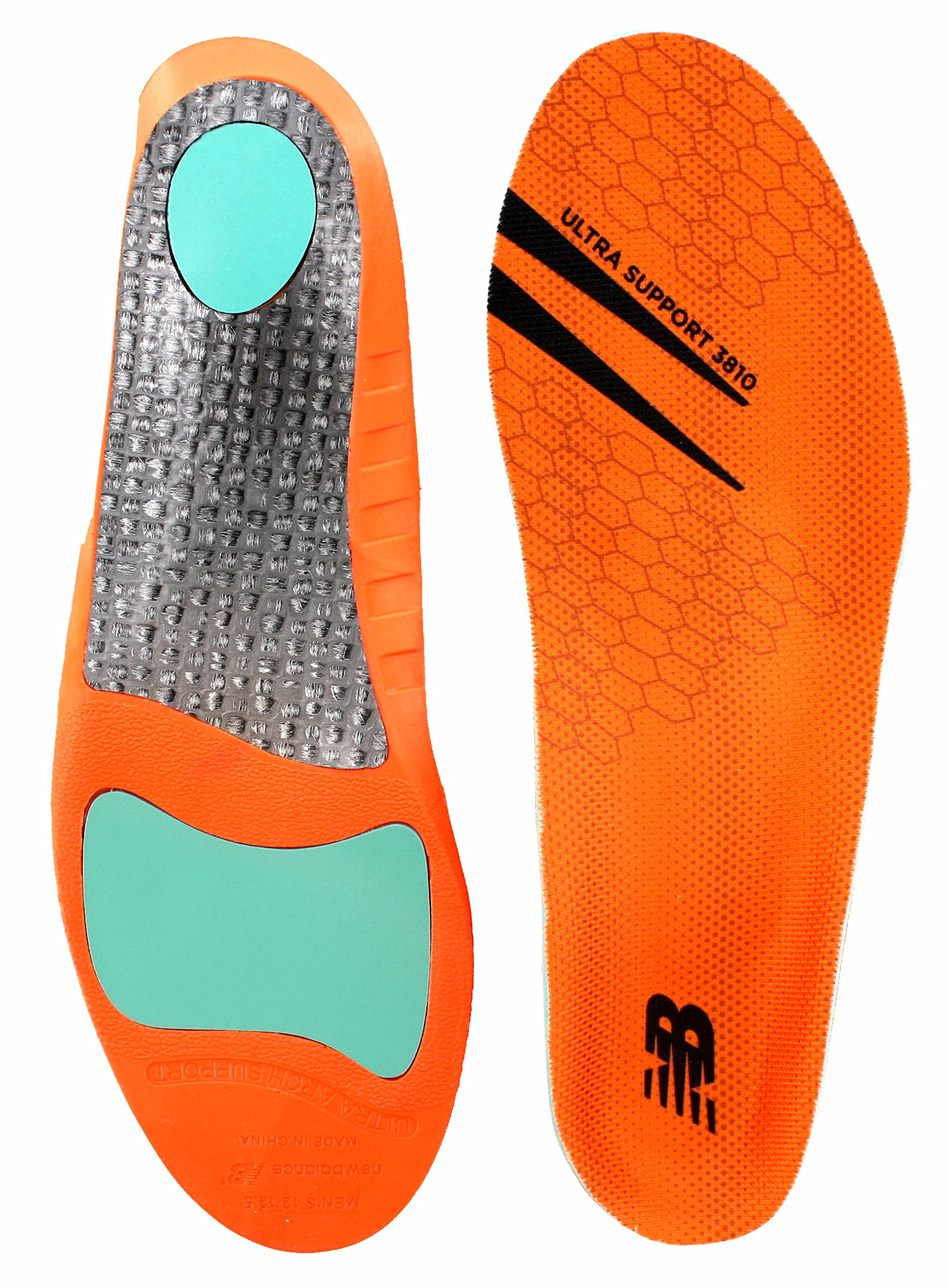 New Balance Insoles 3810 Ultra Support Insole Shoe, Orange, 10.5-11 W US Women / 9-9.5 M US Men by New Balance