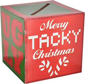Beistle Ugly Christmas Sweater Party Contest Box with 10 Ballots, One Size, Multicolor