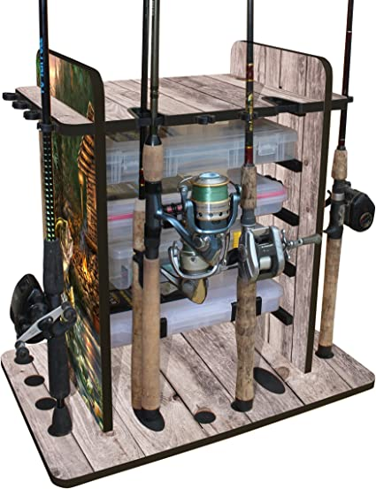 Rush Creek Creations Round 24 Fishing Rod Rack with Dual Rod Clips