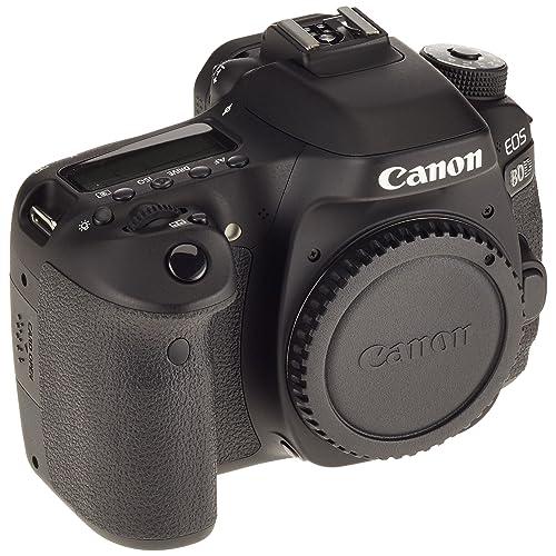 Canon EOS 80D BODY Fotocamera Reflex Digitale da 24.2 Megapixel, Nero/Antracite