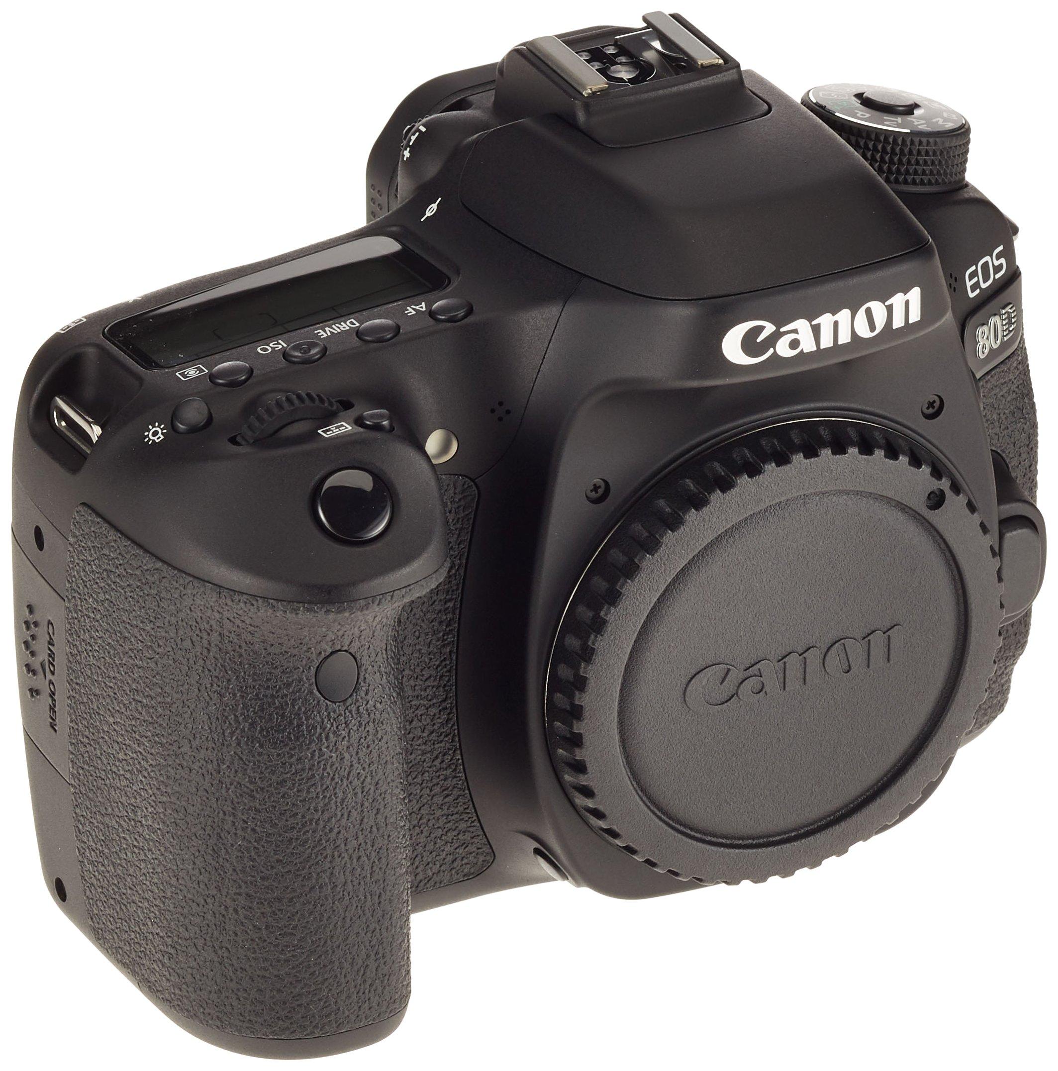 Canon EOS 80D BODY Fotocamera Reflex Digitale da 24.2 Megapixel, Nero/Antracite product image