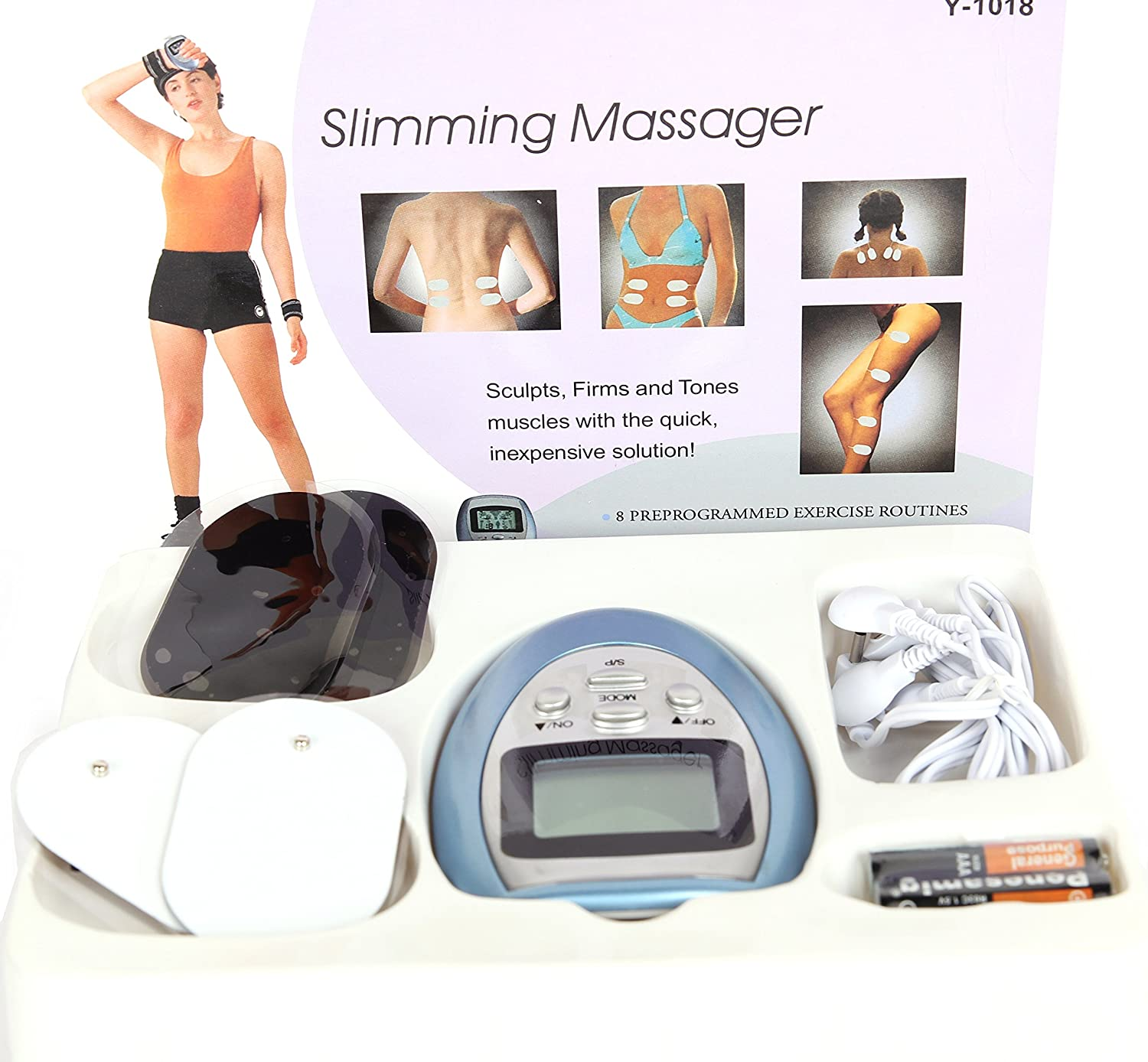 0d151e45c Amazon.com  4 Pads Electronic Pulse Burn Fat Slimming Massager  Health    Personal Care