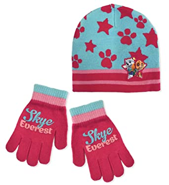Girls Paw Patrol Hat and Gloves Set e1ca75bd8d8