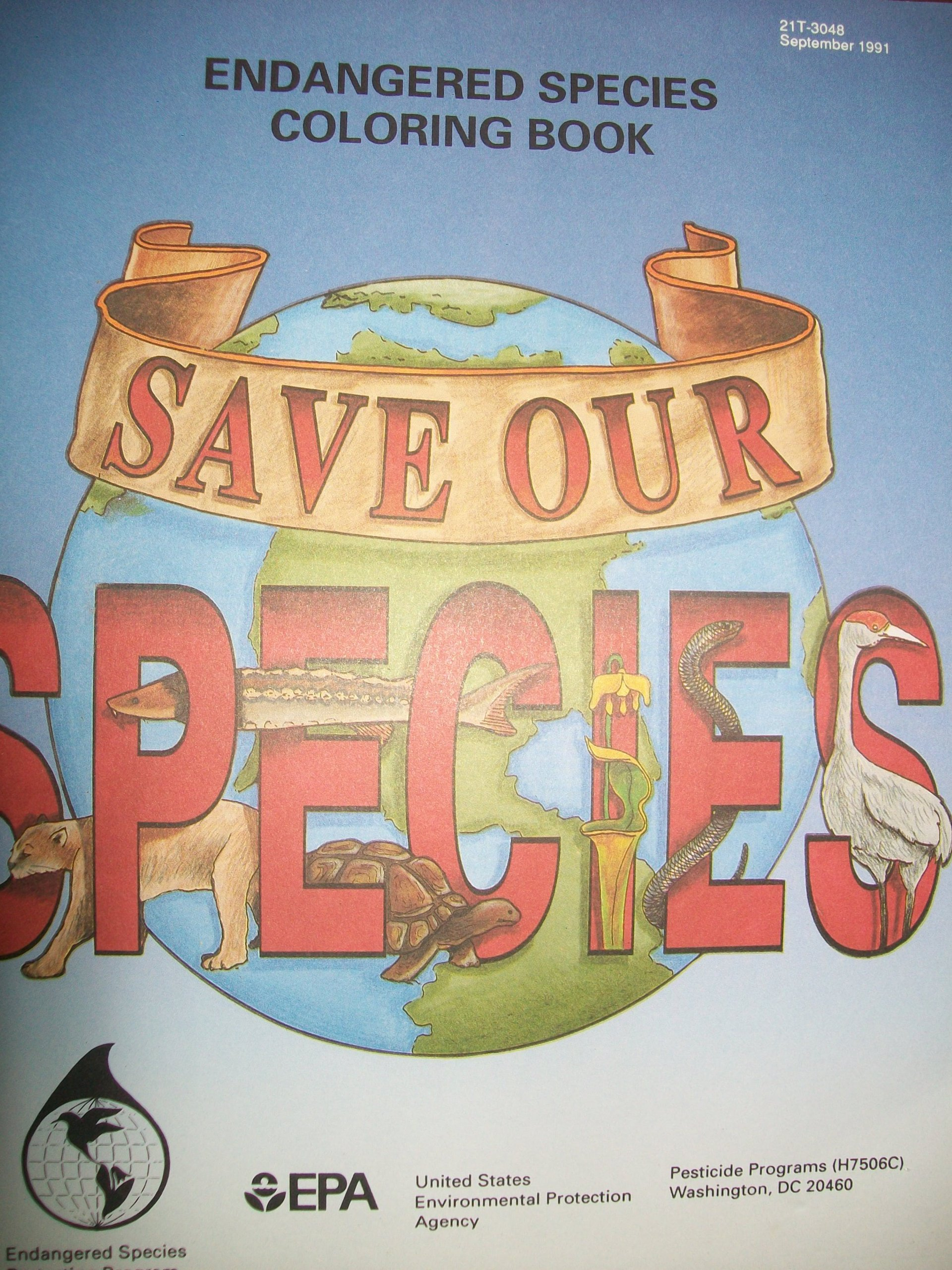 Endangered Species Coloring Book Save Our EPA Amazon Books