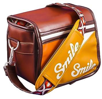 Smile 70s Style - Bolsa reversible para cámara réflex (DSLR), mirrorless, compacta, tamaño S