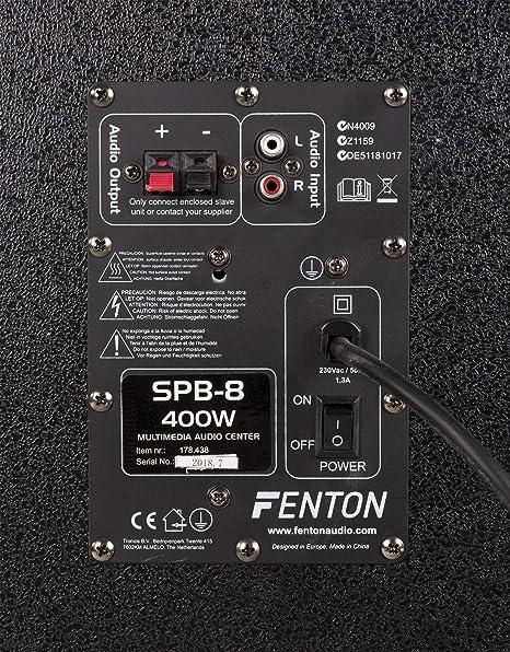 Skytec SPB-8/Pack altoparlanti amplificato DJ/ 400/W, connessione micro, USB, SD e MP3 /Altoparlanti con subwoofer 20/cm
