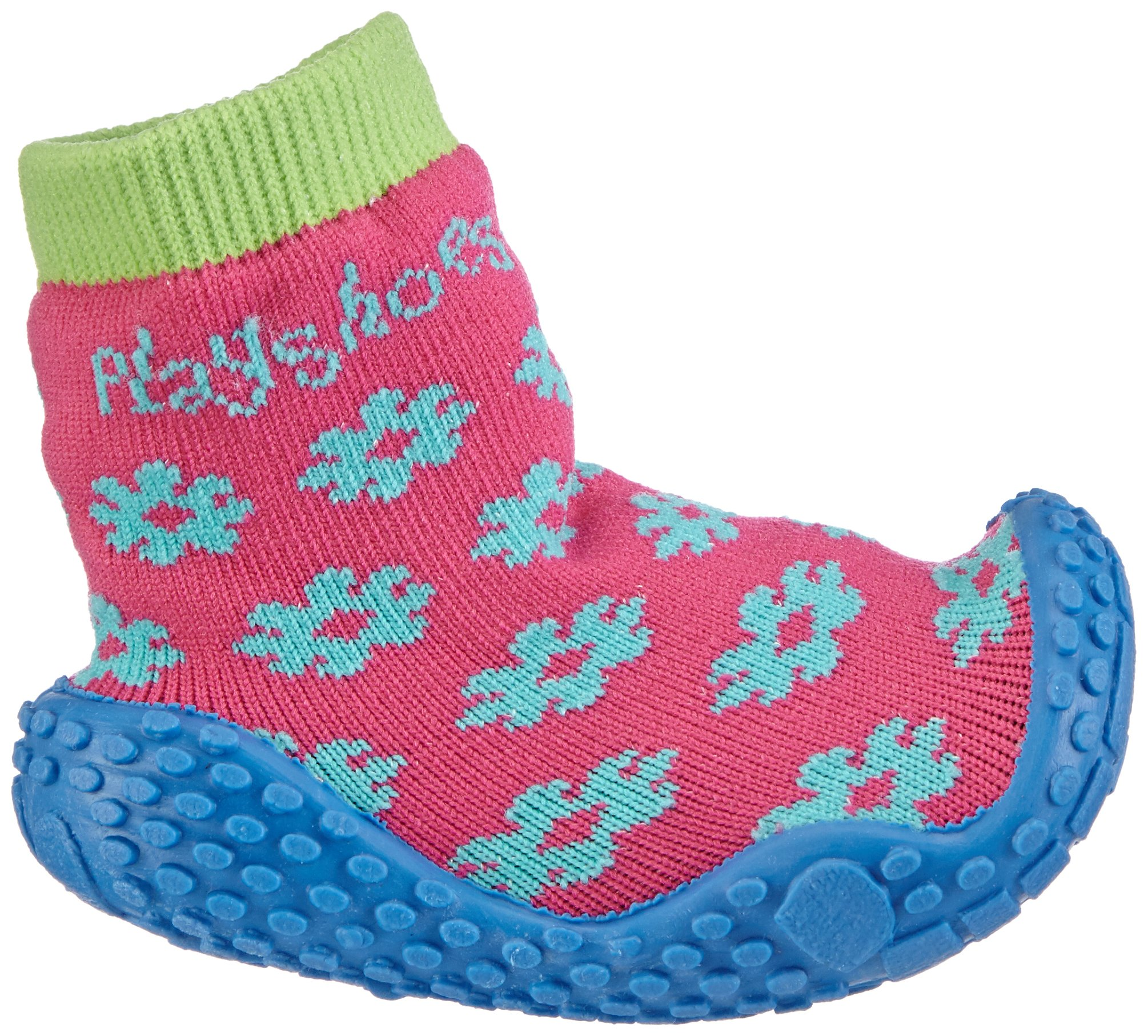 Playshoes Girls Flower Collection Rubber Aqua Swim/Beach Shoes (4.5 M US Toddler) by Playshoes (Image #6)