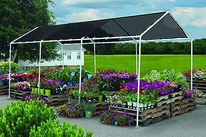 amazon com shade canopy 8 x 20 ft 2 4 x 6 1 m garden outdoor