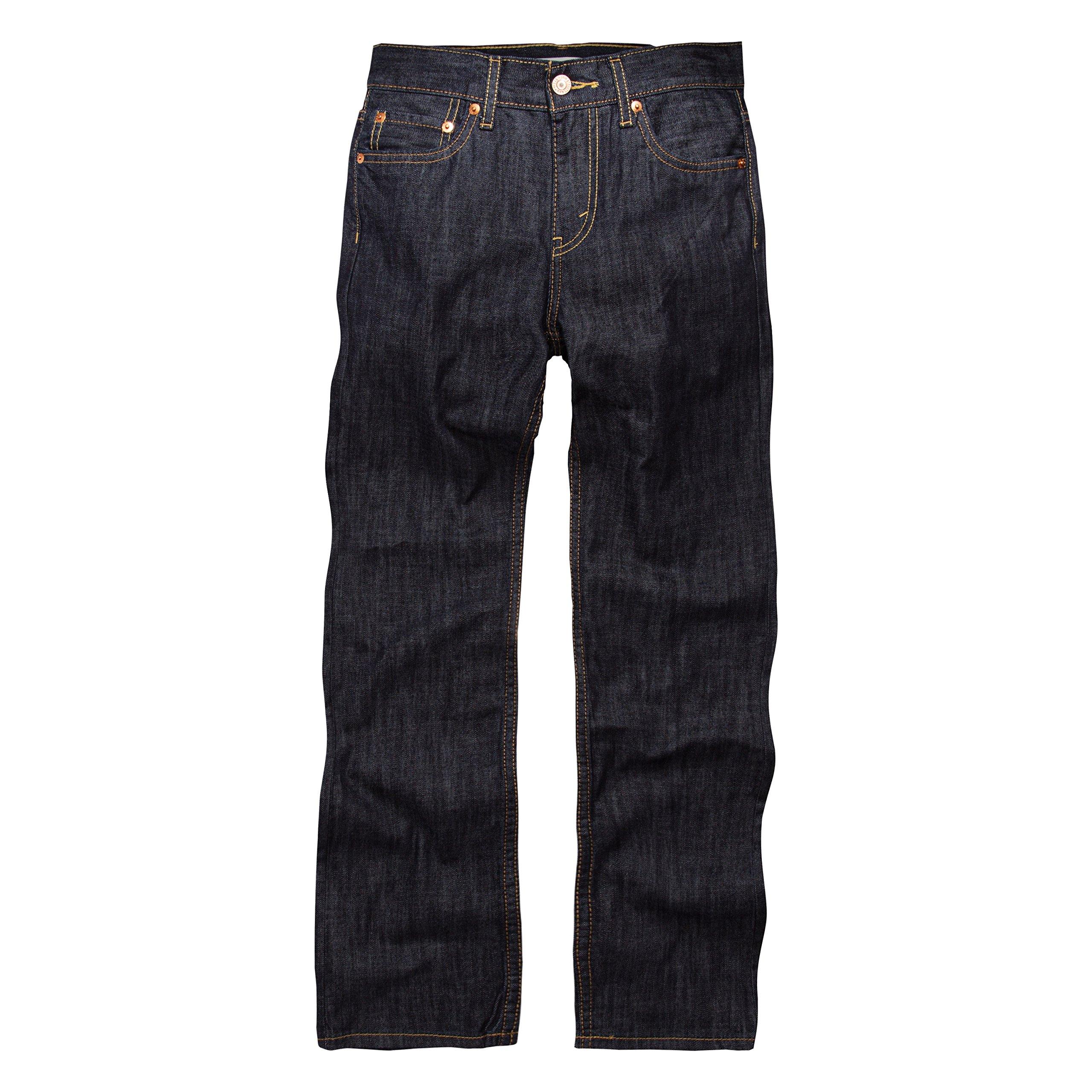 Levi's Boys' Big 514 Straight Fit Jeans, Ice Cap, 12