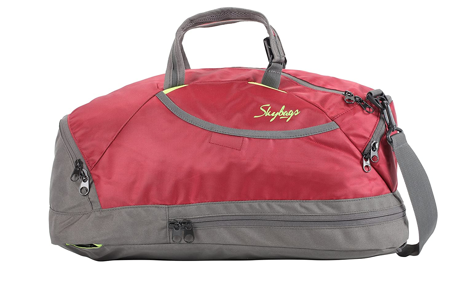 eba184a0ef21 skybags flip 3 way duffle dark red  Amazon.in  Bags