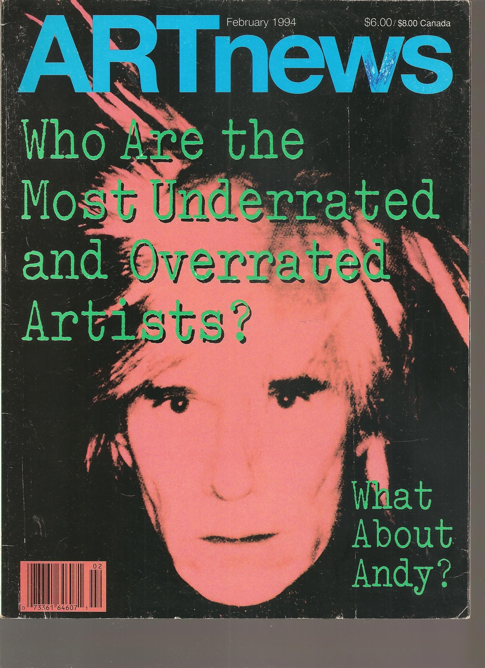 artnews february 1994 andy warhol