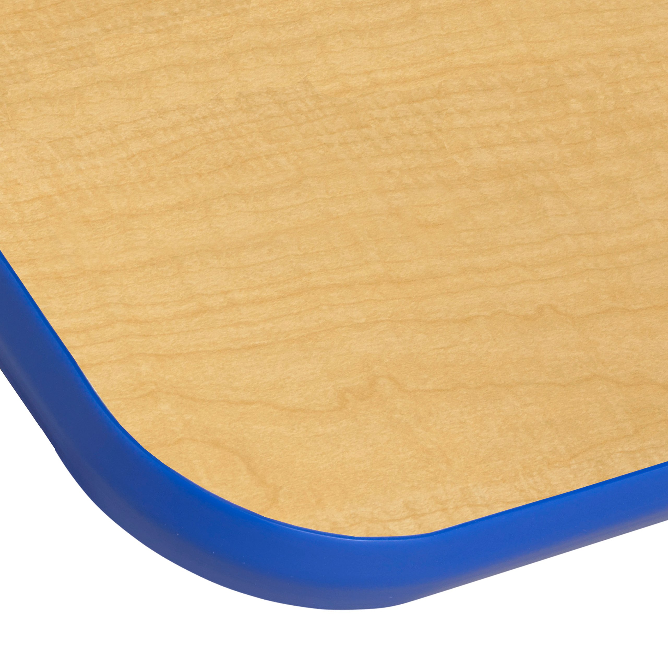 ECR4Kids Mesa T-Mold 30'' x 48'' Rectangular School Activity Table, Standard Legs w/ Swivel Glides, Adjustable Height 19-30 inch (Maple/Blue) by ECR4Kids (Image #1)