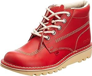 19cf54741a3cf2 Kickers Kick Hi Mens Red Leather Boots