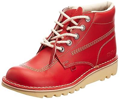 94441ba8f1cda Amazon.com | Kickers Kick Hi Mens Red Leather Boots | Boots