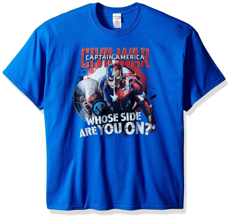3fb1ba81 Amazon.com: Marvel Men's Avengers Civil War Whose Side are You On T-Shirt:  Clothing